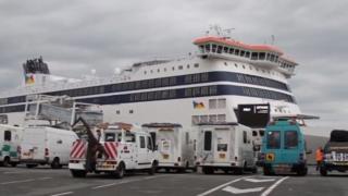 Vehicles waiting at Dover