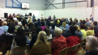 The public meeting on Tuesday evening