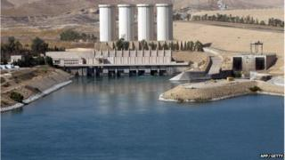 Mosul dam in Northern Iraq (file picture)