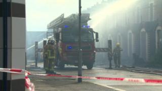 Eight derelict houses caught fire in Glenwood Street
