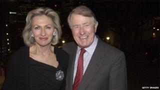 Photo of Jill and Neville Wran in Sydney in 2003