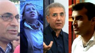 (From L to R) Arif Yunusov, Leyla Yunus, Intigam Aliyev and Rasul Jafarov