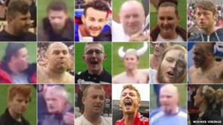 Photos of people who invaded the pitch