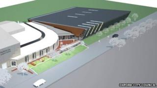 The design for the new pool building at Blackbird Leys