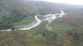 Scene of rescue in Torridon