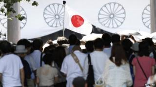 Several Japanese lawmakers visited the war shrine on Friday