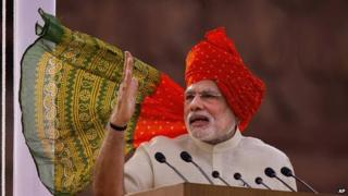 Narendra Modi gave his first Independence speech as PM on Thursday