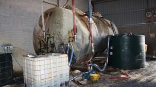 The plant was discovered by HMRC officers when they searched industrial premises in Meigh on Thursday.