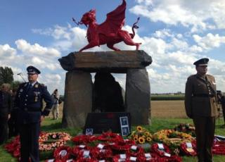 First Minister Carwyn Jones unveiled the monument