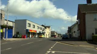 The scene of the 'road rage' assault in Orritor Street, Cookstown