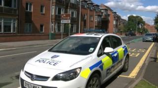 Police car at Carnarvon Place