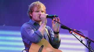 Ed Sheeran at the V Festival