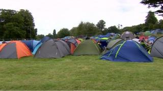 Tents at V Festival