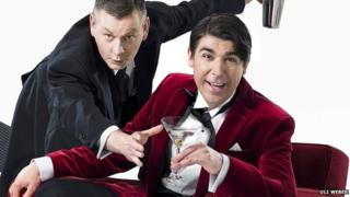 John Gordon Sinclair (L) and James Lance as Jeeves and Wooster