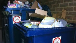 Recycling bins in Oxford