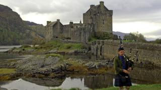 Castle at Eilean Donan, in the Highlands
