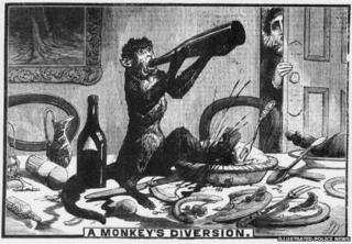 """""""A Monkey's Diversion"""", Illustrated Police News"""