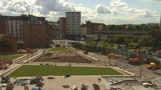 Jubilee Square under construction