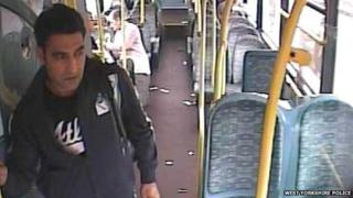 The man police want to speak to in connection with sex offences on the 268 bus to Dewsbury