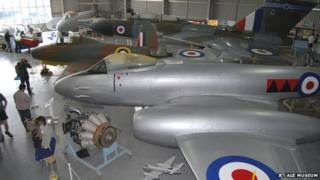 Inside the Jet Age Museum at Gloucestershire Airport