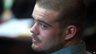 Dutch national Joran van der Sloot is pictured during a hearing at the Lurigancho prison in Lima on 11 January, 2011.
