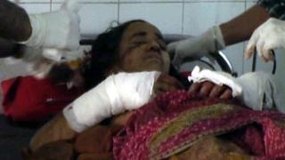 Kamla Devi in hospital