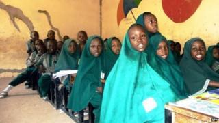 Children at a school in Maiduguri, Nigeria - May 2014
