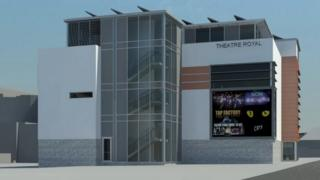Artist's impression of new Norwich Theatre Royal education and skills centre
