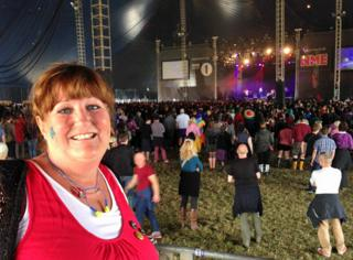 Eileen Hutchinson at the Leeds Festival
