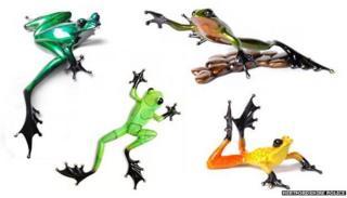 Bronze Frogman sculptures