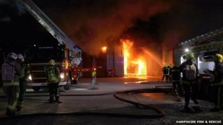 Marchwood fire
