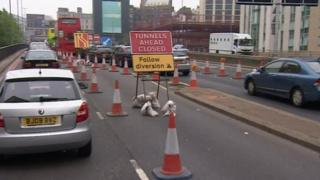 Birmingham tunnels roadworks