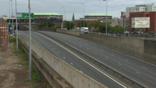 The Westlink has been closed in both directions due to the alert