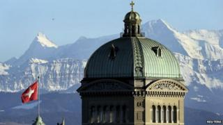 The Swiss Federal Palace in Bern, Switzerland - 12 February 2014