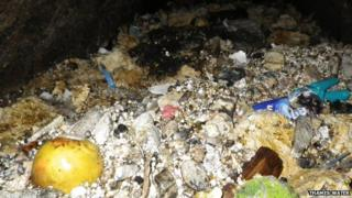 A mountain of congealed fat, wet wipes, food and rubbish blocking a Thames Water pipe - 4 days to clear.
