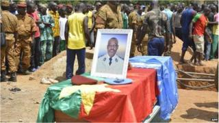 The portrait of a Burkinabè soldier killed in Mali at his funeral (picture from August 24th)