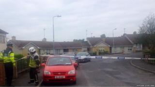 The scene of the security alert in County Cavan