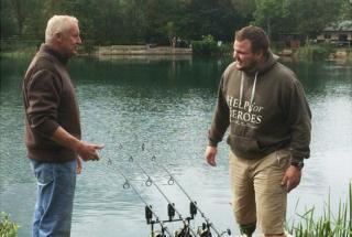 two of the veterans fishing