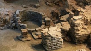 Roman remains at the Novium