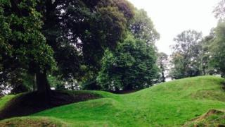 Tullyhogue Fort, County Tyrone, where the O'Neill clan crowned its chief, effectively establishing him as the King of Ulster
