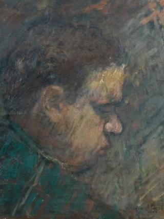 Detail of Dylan Thomas by Gordon Stuart