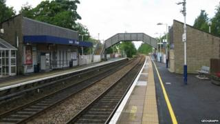 Lenzie rail station