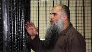 Abu Qatada in court in Amman, Jordan on 7 September 2014