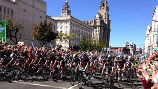 Tour of Britain in Liverpool 2014
