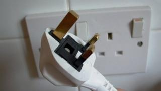 Domestic UK electrical socket and plug