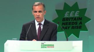 Mark Carney at the TUC congress