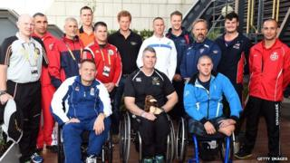 Prince Harry meeting Invictus Games captains