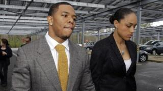 Ray Rice and his wife, Janay Palmer