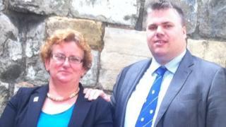 Helen Douglas (l) and Chris Steward (r)