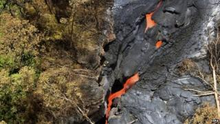 USGS) Hawaiian Volcano Observatory photo shows an aerial view of a lava flow